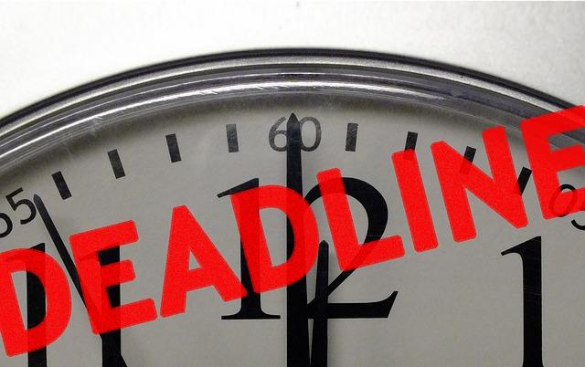 Zeitmanagement Methode: nicht unnötig Deadline festlegen